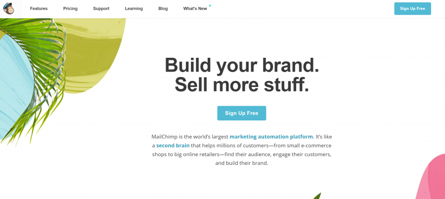 website for mailchimp
